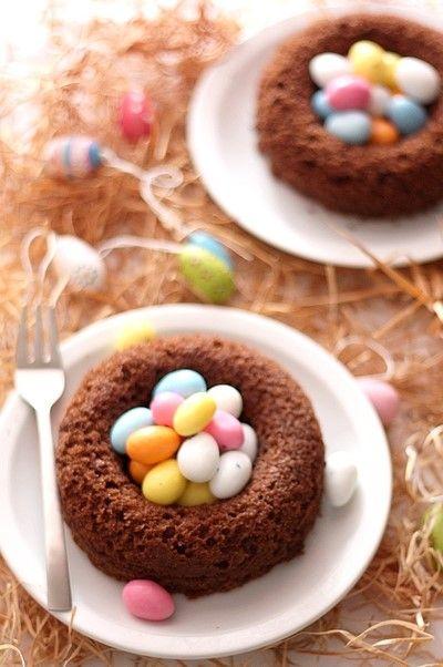 Gâteau oeufs de Pâques,mini oeufs de pâques