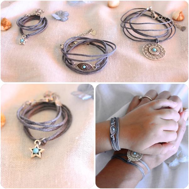Bracelets assortis maman bébé, bracelet breloque turquoise, parfait cadeau de naissance, cadeau porte-bonheur,bijou maman