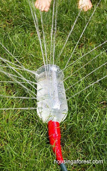 Idée activité enfant,arrosage avec bouteille
